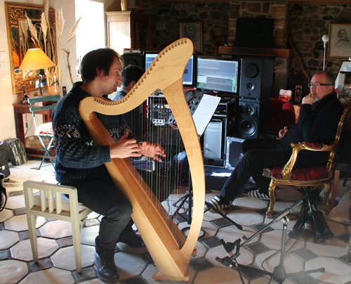 """François Pernel, Harpe (Enregistrement des albums """"La Barque ailée et l'Albatros"""""""